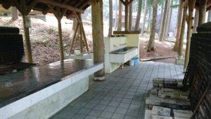 赤城ふれいあいの森バーベキュー場の炊事場