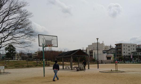 川名公園のバスケットゴール