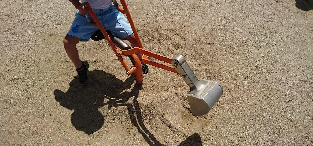 とだがわこどもランド砂場のショベルカー