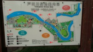 戸田川緑地の駐車場地図