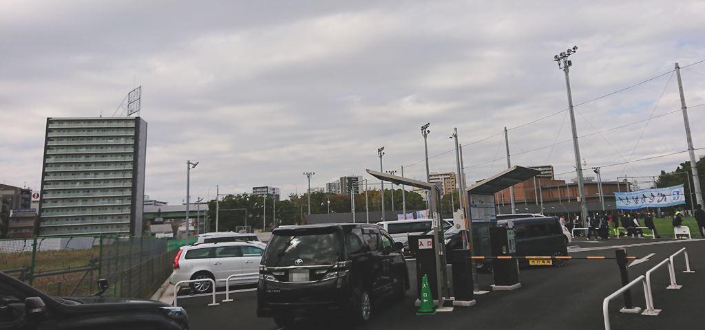 鶴舞公園南駐車場の混雑