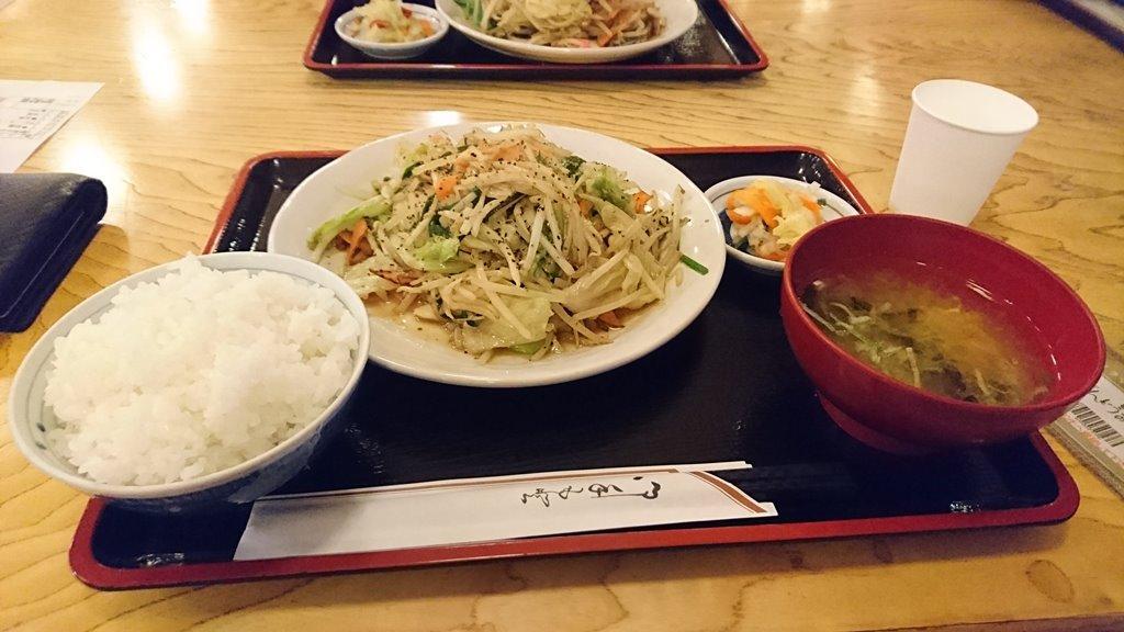 ばんどうの湯 野菜炒め定食