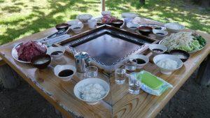 伊香保グリーン牧場バーベキューテーブル