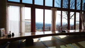 望郷の湯レストランからの景色