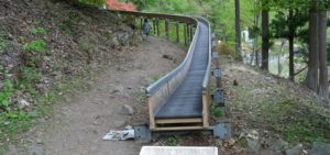 不二洞 ローダー滑り台