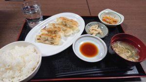 焼き餃子定食