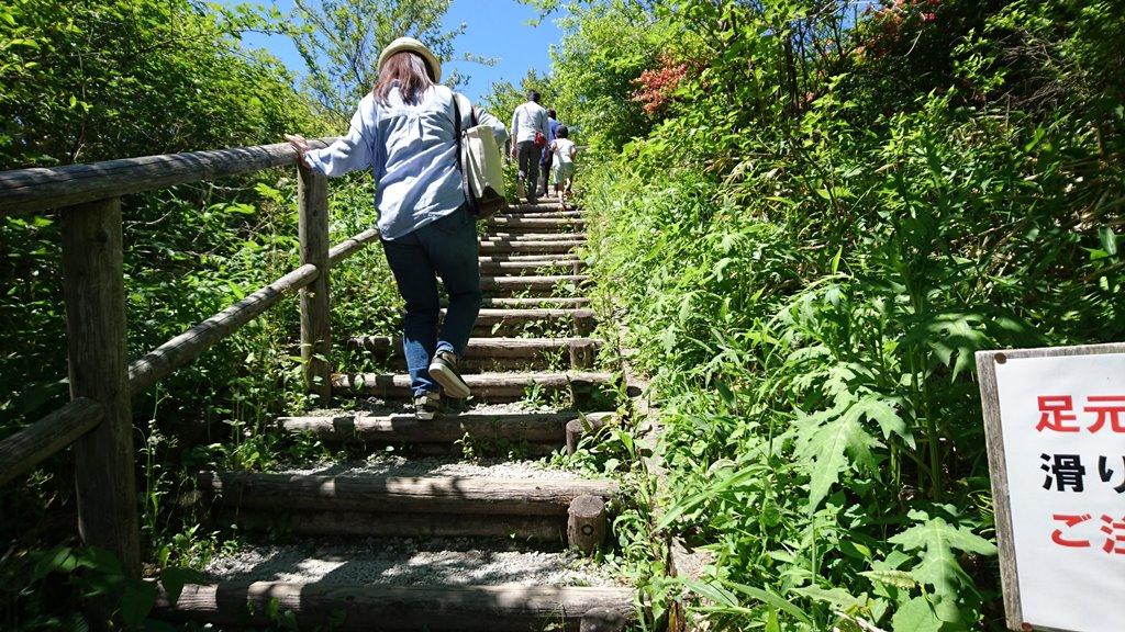 榛名富士山神社への急階段