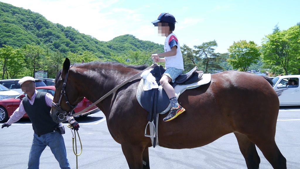 榛名湖の乗馬体験