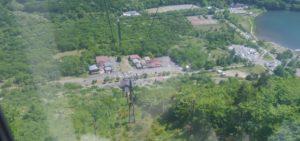 榛名山ロープウェイから下の景色