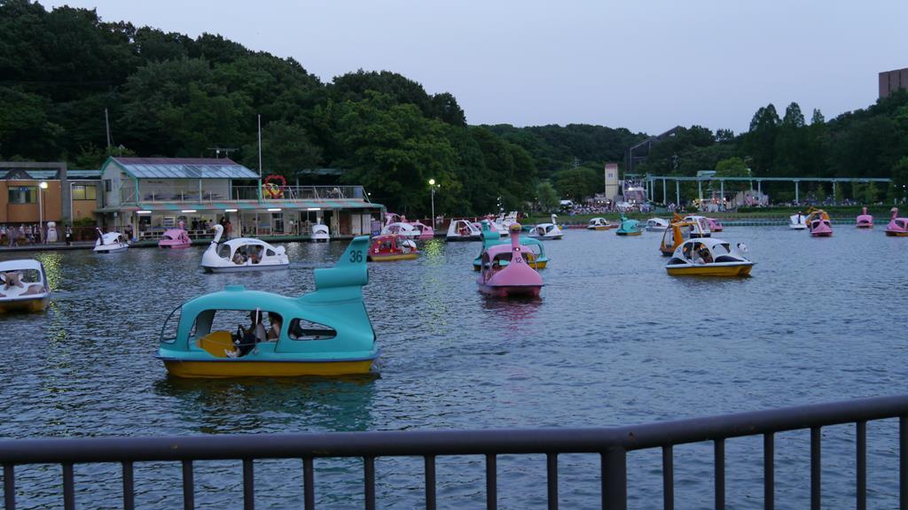 東山動物園のボート混雑時の様子
