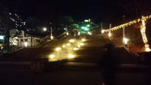 夜の伊香保石段