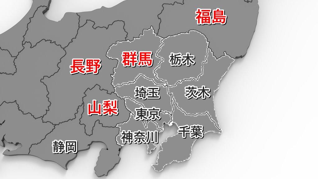 関東周辺の地図