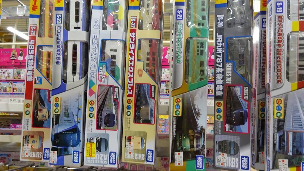 おもちゃ屋さんの倉庫プラレール