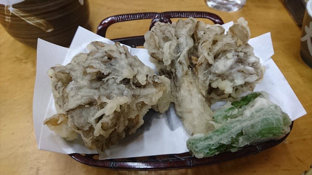 大澤屋の舞茸天ぷら