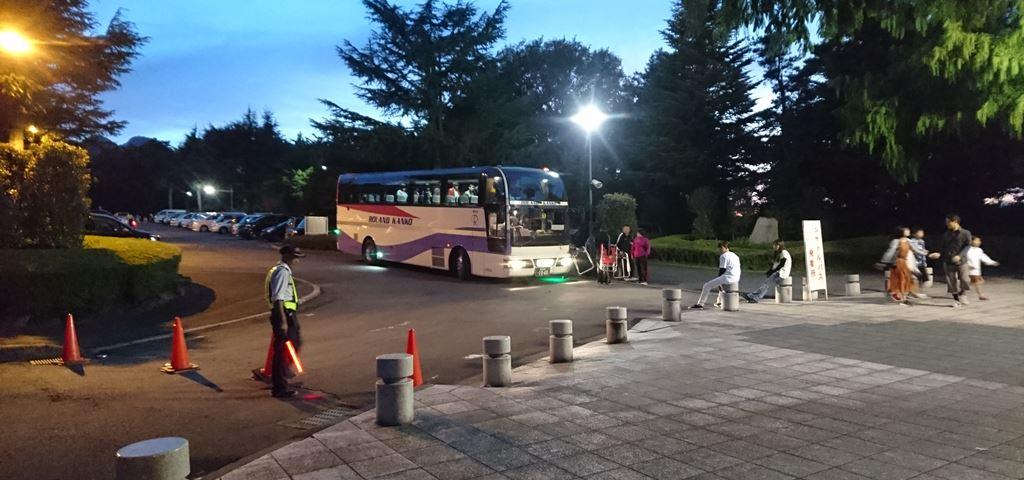 渋川スカイランドパーク花火大会のピストン輸送