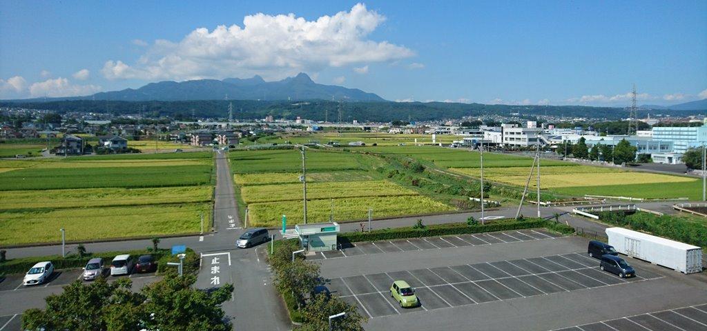スカイテルメ渋川の2階からの景色