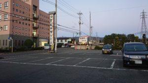 とんかつトミタの駐車場
