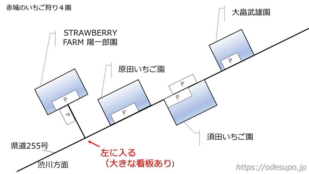 陽一郎園の地図